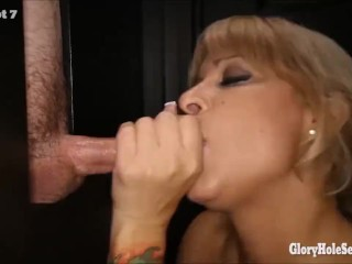 Sexy cock sluts sucking off strangers in gloryhole