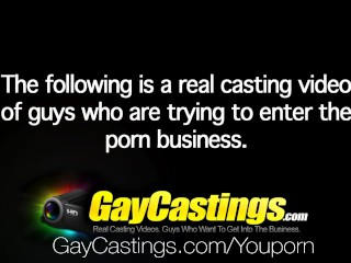 HD GayCastings – Young guy explodes with cum at his audition