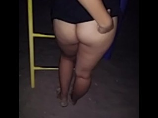 Puerto Rican wet pussy fingered at the park