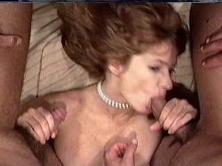 MILF fucks two for the price of one