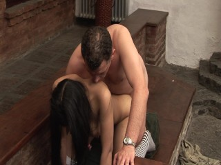 Lucky guy has some fun with younger chick – Latin-Hot