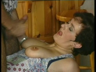 Mature German gets cum on her tits- Julia Reaves