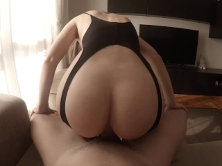 Senneca gets fucked with her panties on