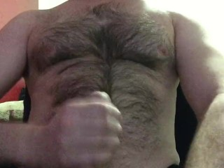 i grew my bush out! jacking off in my boxer briefs, nice big load!