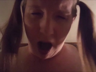 Lady Adorn Riding, sucking, face fucking and swallows!!