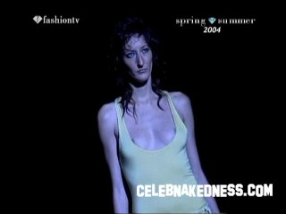 Celebnakedness models naked on the runway with natural breasts 8
