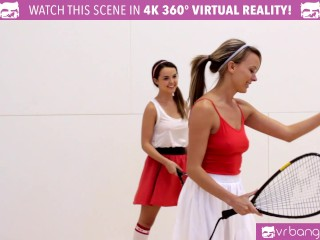 VR Bangers – DILLION and PRISTINE SCISSORING after NAKED Racquetball