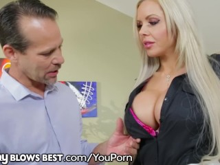 BIG TITS MILF Nina Elle In ROUGH & HARD Blowjob