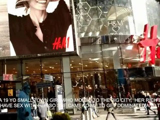 Blonde Small Town Girl Goes to Big City for Throat Gagging + Domination.mov