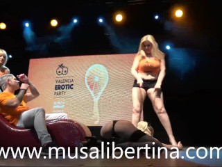Nudist and cosplay performances in erotic festival
