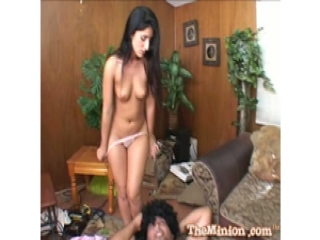 Luscious Lopez do sixty nine with fat guy on the floor