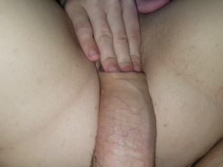 Rubbing daddy's dick on my pussy
