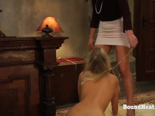 Disappeared On Arrival 2: Slave On A Leash Licking Mistresses Pussy