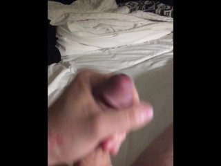 Jacking off in hotel room