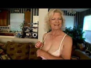 64 year old Granny plays with her pussy