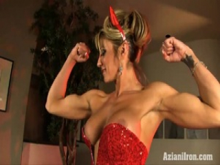 Devil Abby show off how hot and strong she is