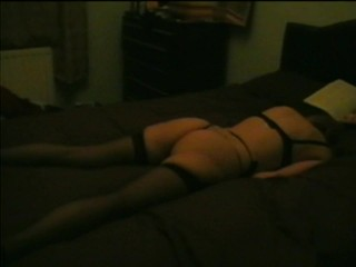 Awesome Grinding Real Orgasm in Stockings