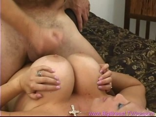 extreme big fake boobs in action