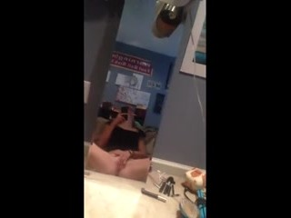 Horny teen playing with herself
