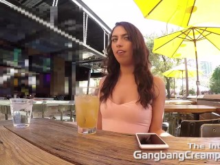 Gangbang Creampie Young babe gets cum  filled