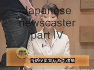 Japanese newscaster gets cummed on pt. 4