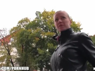 Blonde girl with big-tits is picked up & paid for anonymous sex